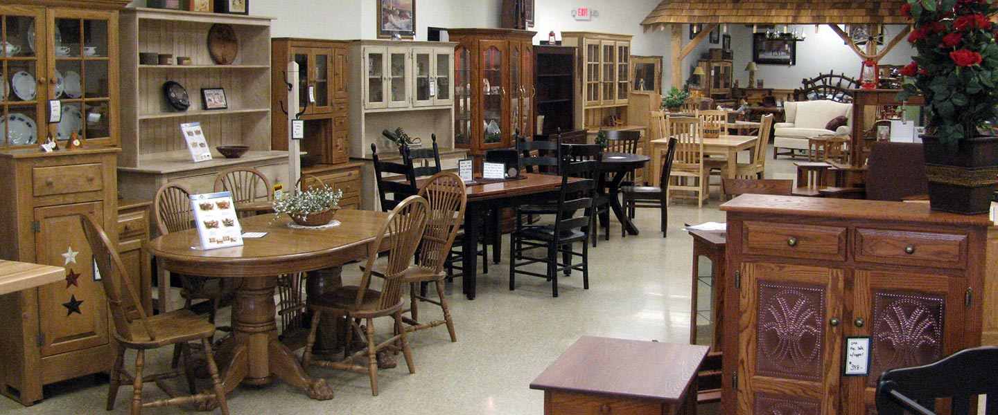 Showroom With Amish Crafted Furinture In Quarryville Pa From Dutch Selections